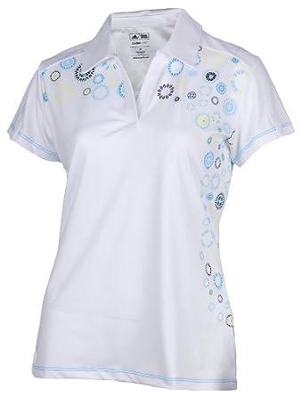 Buy Adidas Ladies Climalite Starburst Print Athletic Polo Shirt by adidas