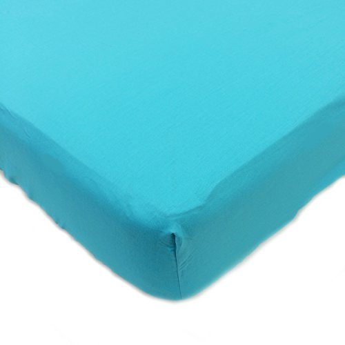 One Grace Place Magical Michayla Crib Sheet, Turquoise