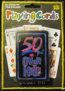 Trisar 50 and Over the Hill Playing Cards Bridge Size