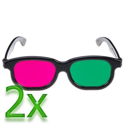 GTMax 2x 3D Magenta/Green Glasses Basic Square
