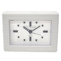[ナノブロック]nanoblock デコレーション目覚まし時計 アラームクロック 置時計 おまけブロック付 ホワイト NAAC-96904WH