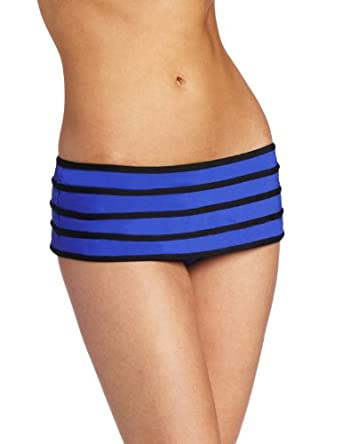 JAG Women's Jag Solid Swim Bottom with Contrast Binding, Sapphire Blue, Medium