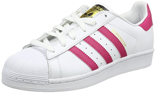 adidas Originals - Superstar Foundation, Sneakers per bimbi, Bianco (Weiß (Ftwr White/Bold Pink/Ftwr White)), 36.7