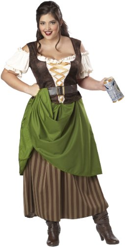 Tavern Maiden Adult Costume - Plus Size 3X