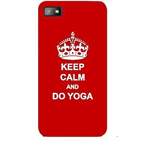 Skin4gadgets Keep Calm and DO YOGA - Colour - Red Phone Skin for BLACKBERRY Z10