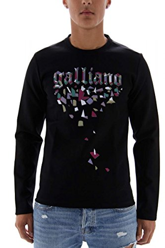 john-galliano-sweatshirt-herren-schwarz-grosse-m
