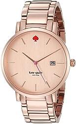 kate spade new york Women's 1YRU0641 Gramercy Grand Rose Gold-Tone Bracelet Watch
