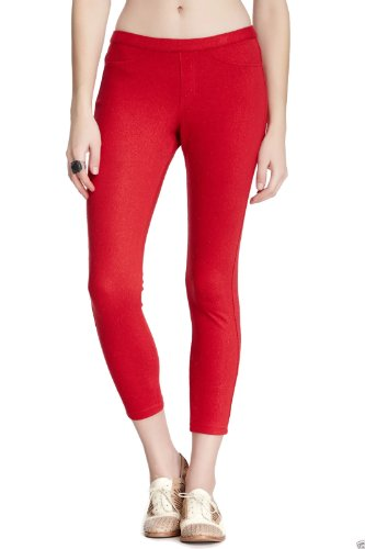 HUE Glitter Jeans Skimmer Leggings , Apple Red)