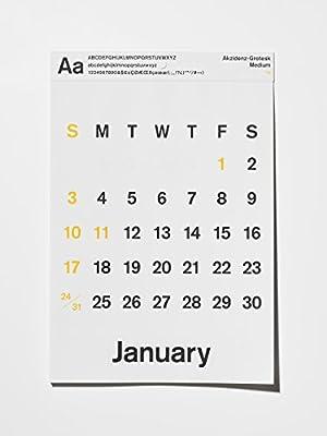 2016年カレンダー タイプフェイスカレンダー TYPEFACE CALENDAR D-bros 壁掛け Akzidens-Gratesk