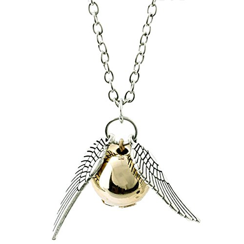 Accessorisingg Harry Potter Golden Snitch With Wings Pendant For Girls[PD032]