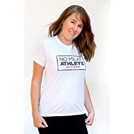 Women's White Short Sleeve Technical Shirt - Stamp Logo