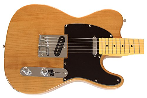 Revv Rpt177 Series Solid Body Electric Guitar - Natural Alder