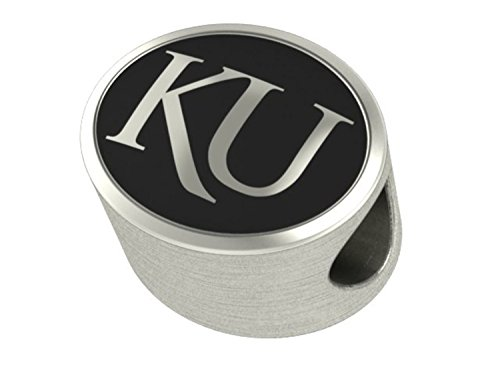 University of Kansas Jayhawks Antiqued Bead Fits Most European Style Bracelets