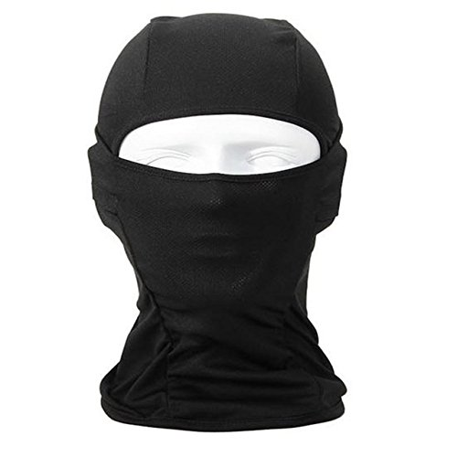 Balaclava Breathable Speed Dry Outdoor Sports Riding Ski Tactical Head Cover Motorcycle Cycling UV Protect Full face Mask M030 (Color: Black) (Honda Cbr600rr Plate Accessories compare prices)