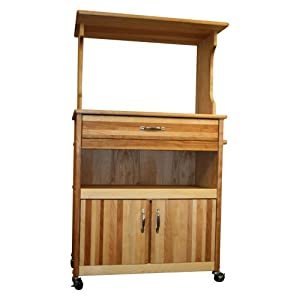 Catskill Craftsmen Microwave Cart with Open/Enclosed Storage
