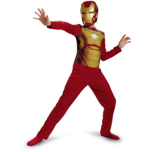 Iron Man 3 Mark 42 Kids Boys Dress Up Play Costume M (7/8)