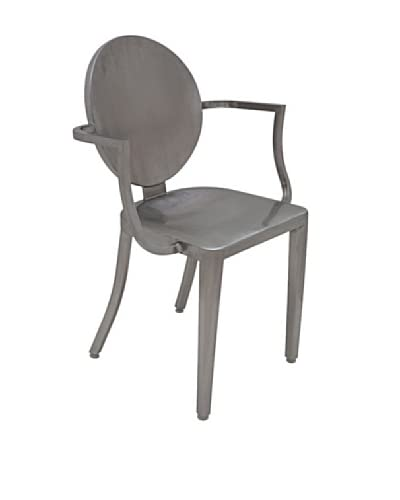 Industrial Chic Louis Chair, Silver As You See
