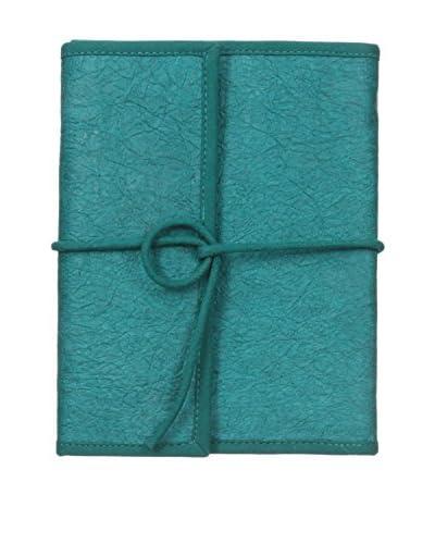 Marina Vaptzarov Vegetal Leather Travel Notebook, Teal