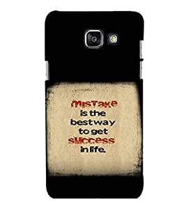 printtech Cool Quotes Success Back Case Cover for Samsung Galaxy A3 2016 Edition