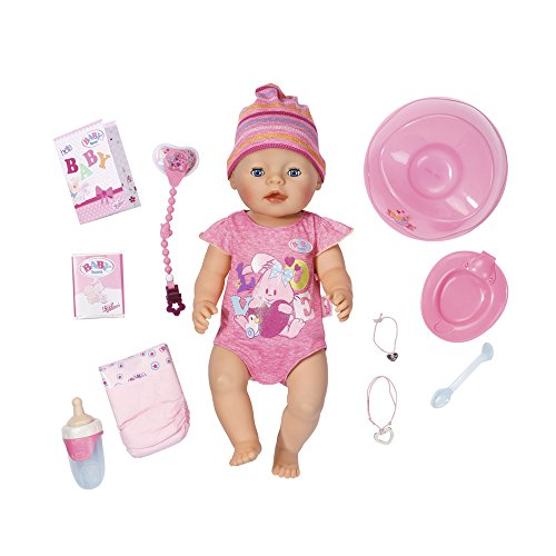 Baby Born - Muneca interactivo, color rosa (Bandai 815793)