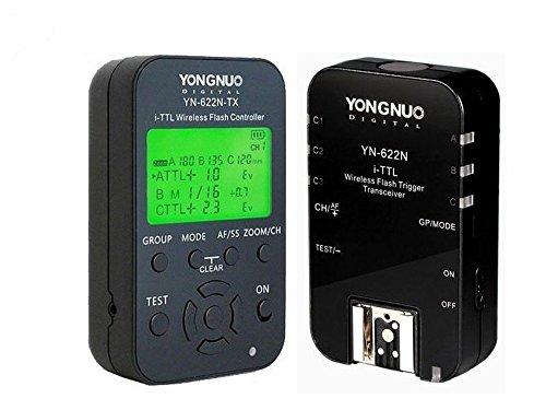 Yongnuo Yn-622N-Kit Yn622N-Kit Wireless I-Ttl Flash Trigger Kit With Led Screen For Nikon Including 1X Yn622N-Tx Controller And 1X Yn622 N Transceiver