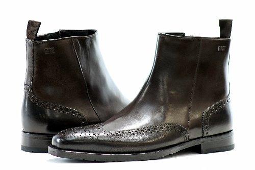 9f54359564f Boss By Hugo Boss Mens Fashion Boots Clasor Dark Brown Shoes Check ...