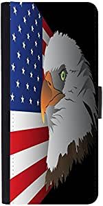 Snoogg Flag Background With Eagle Designer Protective Flip Case Cover For Son...