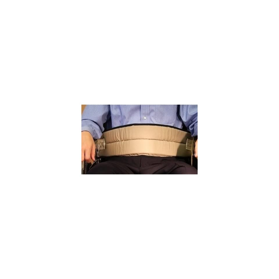 Cushion Belt with Quick Release Buckle Closure in Beige