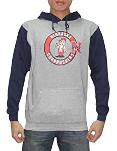 NCAA Nebraska Cornhuskers Mens Warm Athletic Hoodie (Vintage Look) by NCAA