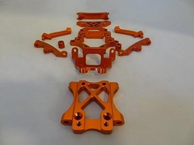 Rovan RC CNC Aluminium Front Alloy Parts Kit (orange)