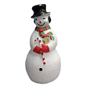 Large snowman lighted plastic christmas for Amazon christmas lawn decorations