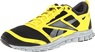 Reebok Men's Realflex Speed Running Shoe,Black/Yellow/Grey,8.5 M US
