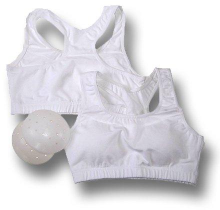 Modischer Damen-Sport-top / Brustschutz für den Einsatz in Karate / Taekwondo oder Freizeitkleidung