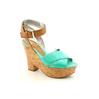 Marc Fisher Women's Sabina Platform Sandals in Blue Multi Size 5