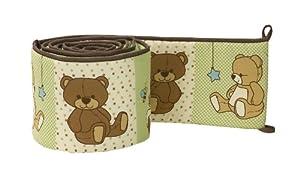 NoJo Baby Polka Dot Jungle Tales Safari Friends 4-Piece Secure Me Crib Bumper