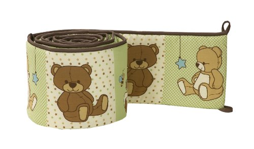 Little Bedding by NoJo Dreamland Teddy Uni Crib Bumper