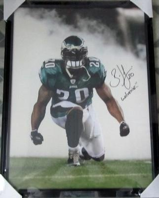 Brian Dawkins Signed Philadelphia Eagles 24x32 Framed Canvas Wolverine SI -  Autographed NFL Art d4ca8c11a