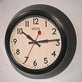 SMITHS スミス 復刻版 レトロ ウォールクロック 掛時計 ブラウン