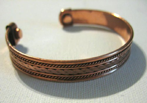 Copper Magnetic Bracelet Cuff Bangle Style. For Men or Women