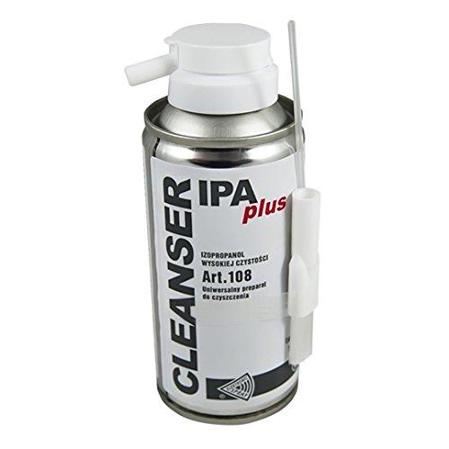 Detergente liquido con spruzzino e pennello pulisci contatti Cleanser Ipa plus art. 108 isopropanolo