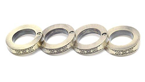 MilitaryStyle メリケンサック リング 指輪 ナックル サバイバル 護身 4連リング (ゴールド)