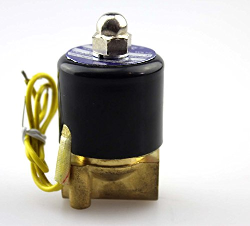"""Baco Engineering 1/4"""" Electric Solenoid Valve, Ac110V Npt Normally Closed Electrical Valve Water Air Oil"""