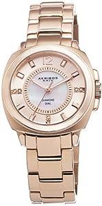 Akribos XXIV Womens AK668RG Lady Diamond Mother-Of-Pearl Swiss Quartz Rose-Tone Stainless Steel Bracelet Watch
