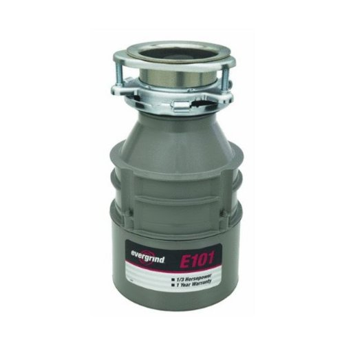 Emerson Evergrind E101Cord Foodwaste Disposer With Cord, 1/3 Horsepower, 1-Pack