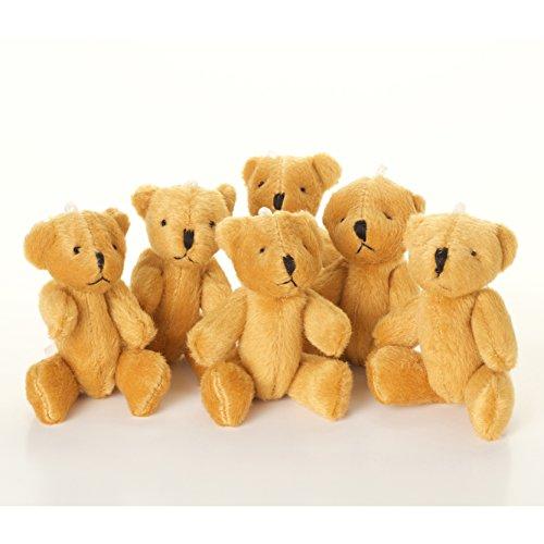 new-5-x-little-brown-teddy-bear-cute-and-cuddly-gift-present-birthday-xmas