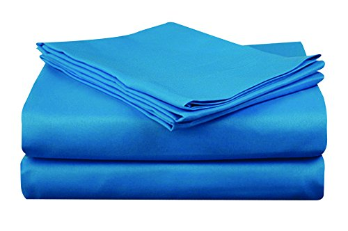 At Home Microfiber Bright Colored Sheet Set, Full, Ocean Blue ...
