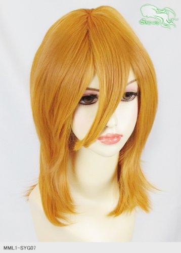 スキップウィッグ 魅せる シャープ 小顔に特化したコスプレアレンジウィッグ フェザーミディ マスタード