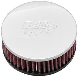 K&N RC-0920 High Performance  Universal Clamp-on Chrome Air Filter