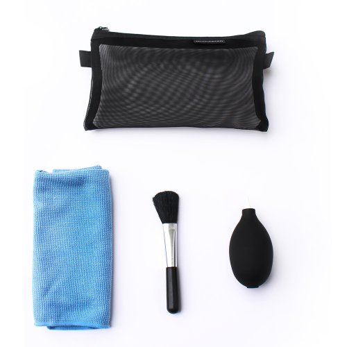Storm Mart 3-In-1 Cleaning Kit Set - Clean Brush/Small Black Silicon Air Blower/Cloth In A Carrying Case For Nikon D3,D90,D800,D7100,D7000,D5100,D5200,D3100,D3200,Canon 70D,50D,60D,7D,5D,6D,550D,600D,650D,700D,1100D,Sx500,Sx50,G15 G16,Olympus E3,E5,E30,E6