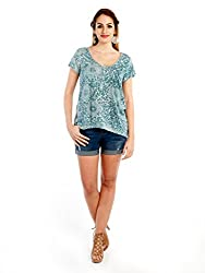 GIRLS TURQUOISE PRINT TOP 8903348908999
